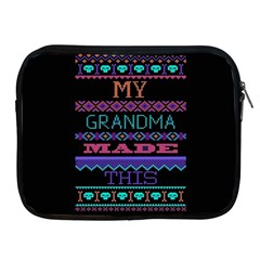 My Grandma Made This Ugly Holiday Black Background Apple iPad 2/3/4 Zipper Cases