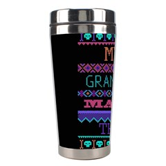My Grandma Made This Ugly Holiday Black Background Stainless Steel Travel Tumblers