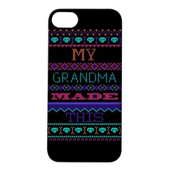 My Grandma Made This Ugly Holiday Black Background Apple iPhone 5S/ SE Hardshell Case