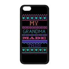 My Grandma Made This Ugly Holiday Black Background Apple iPhone 5C Seamless Case (Black)
