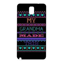 My Grandma Made This Ugly Holiday Black Background Samsung Galaxy Note 3 N9005 Hardshell Back Case