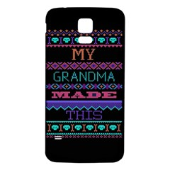 My Grandma Made This Ugly Holiday Black Background Samsung Galaxy S5 Back Case (White)