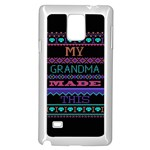 My Grandma Made This Ugly Holiday Black Background Samsung Galaxy Note 4 Case (White) Front