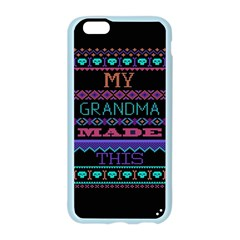 My Grandma Made This Ugly Holiday Black Background Apple Seamless iPhone 6/6S Case (Color)