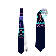 My Grandma Made This Ugly Holiday Blue Background Neckties (one Side)