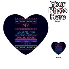 My Grandma Made This Ugly Holiday Blue Background Multi Purpose Cards (heart)