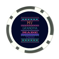 My Grandma Made This Ugly Holiday Blue Background Poker Chip Card Guards (10 Pack)
