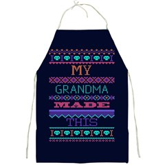 My Grandma Made This Ugly Holiday Blue Background Full Print Aprons