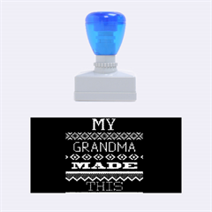 My Grandma Made This Ugly Holiday Blue Background Rubber Stamps (Medium)