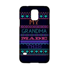 My Grandma Made This Ugly Holiday Blue Background Samsung Galaxy S5 Hardshell Case