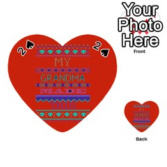 My Grandma Made This Ugly Holiday Red Background Playing Cards 54 (Heart)