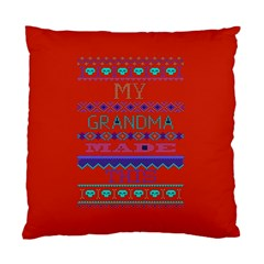 My Grandma Made This Ugly Holiday Red Background Standard Cushion Case (one Side)