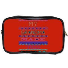 My Grandma Made This Ugly Holiday Red Background Toiletries Bags 2 Side