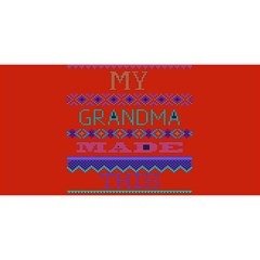 My Grandma Made This Ugly Holiday Red Background You Are Invited 3d Greeting Card (8x4)
