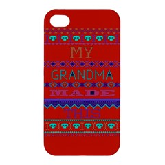 My Grandma Made This Ugly Holiday Red Background Apple Iphone 4/4s Premium Hardshell Case