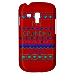 My Grandma Made This Ugly Holiday Red Background Samsung Galaxy S3 Mini I8190 Hardshell Case