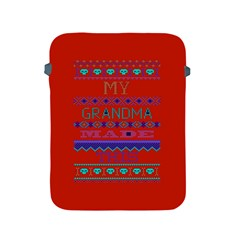 My Grandma Made This Ugly Holiday Red Background Apple Ipad 2/3/4 Protective Soft Cases