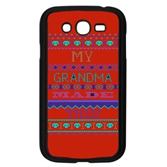 My Grandma Made This Ugly Holiday Red Background Samsung Galaxy Grand Duos I9082 Case (black)