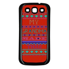 My Grandma Made This Ugly Holiday Red Background Samsung Galaxy S3 Back Case (black)
