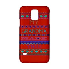 My Grandma Made This Ugly Holiday Red Background Samsung Galaxy S5 Hardshell Case