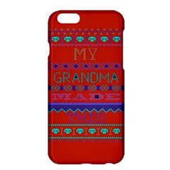 My Grandma Made This Ugly Holiday Red Background Apple Iphone 6 Plus/6s Plus Hardshell Case