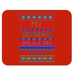 My Grandma Made This Ugly Holiday Red Background Double Sided Flano Blanket (medium)