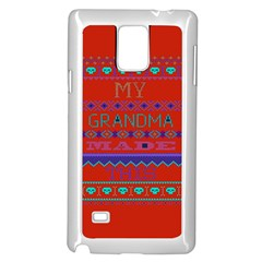 My Grandma Made This Ugly Holiday Red Background Samsung Galaxy Note 4 Case (white)