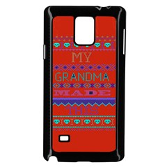 My Grandma Made This Ugly Holiday Red Background Samsung Galaxy Note 4 Case (black)