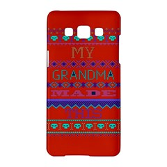 My Grandma Made This Ugly Holiday Red Background Samsung Galaxy A5 Hardshell Case