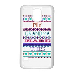 My Grandma Made This Ugly Holiday Samsung Galaxy S5 Case (white)