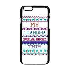 My Grandma Made This Ugly Holiday Apple Iphone 6/6s Black Enamel Case