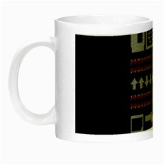 Old School Ugly Holiday Christmas Black Background Night Luminous Mugs