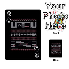 Old School Ugly Holiday Christmas Black Background Playing Cards 54 Designs