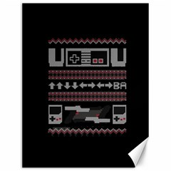 Old School Ugly Holiday Christmas Black Background Canvas 12  X 16