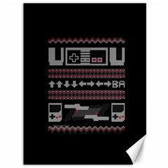 Old School Ugly Holiday Christmas Black Background Canvas 36  x 48