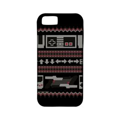 Old School Ugly Holiday Christmas Black Background Apple iPhone 5 Classic Hardshell Case (PC+Silicone)