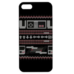 Old School Ugly Holiday Christmas Black Background Apple iPhone 5 Hardshell Case with Stand