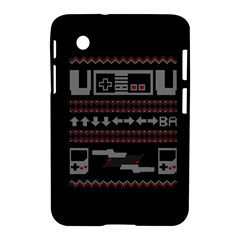 Old School Ugly Holiday Christmas Black Background Samsung Galaxy Tab 2 (7 ) P3100 Hardshell Case