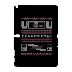 Old School Ugly Holiday Christmas Black Background Samsung Galaxy Note 10.1 (P600) Hardshell Case