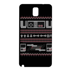 Old School Ugly Holiday Christmas Black Background Samsung Galaxy Note 3 N9005 Hardshell Back Case