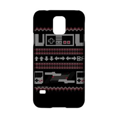 Old School Ugly Holiday Christmas Black Background Samsung Galaxy S5 Hardshell Case