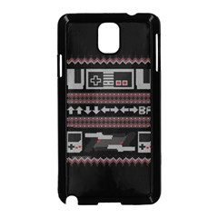 Old School Ugly Holiday Christmas Black Background Samsung Galaxy Note 3 Neo Hardshell Case (black)