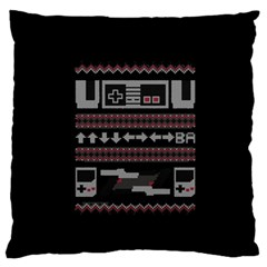 Old School Ugly Holiday Christmas Black Background Standard Flano Cushion Case (two Sides)