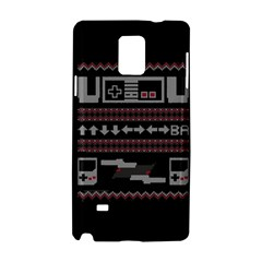Old School Ugly Holiday Christmas Black Background Samsung Galaxy Note 4 Hardshell Case