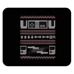 Old School Ugly Holiday Christmas Black Background Double Sided Flano Blanket (small)