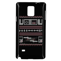 Old School Ugly Holiday Christmas Black Background Samsung Galaxy Note 4 Case (black)