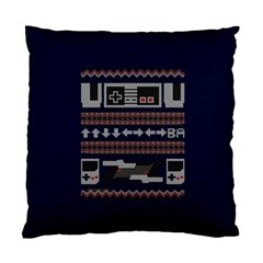 Old School Ugly Holiday Christmas Blue Background Standard Cushion Case (one Side)