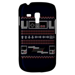 Old School Ugly Holiday Christmas Blue Background Samsung Galaxy S3 Mini I8190 Hardshell Case
