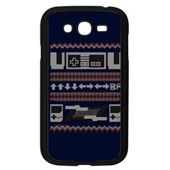Old School Ugly Holiday Christmas Blue Background Samsung Galaxy Grand Duos I9082 Case (black)