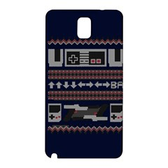 Old School Ugly Holiday Christmas Blue Background Samsung Galaxy Note 3 N9005 Hardshell Back Case